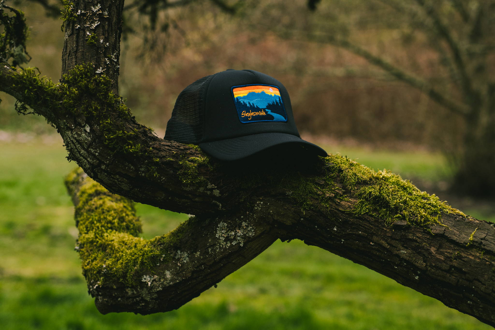 Skykomish, Washington Custom Trucker Cap