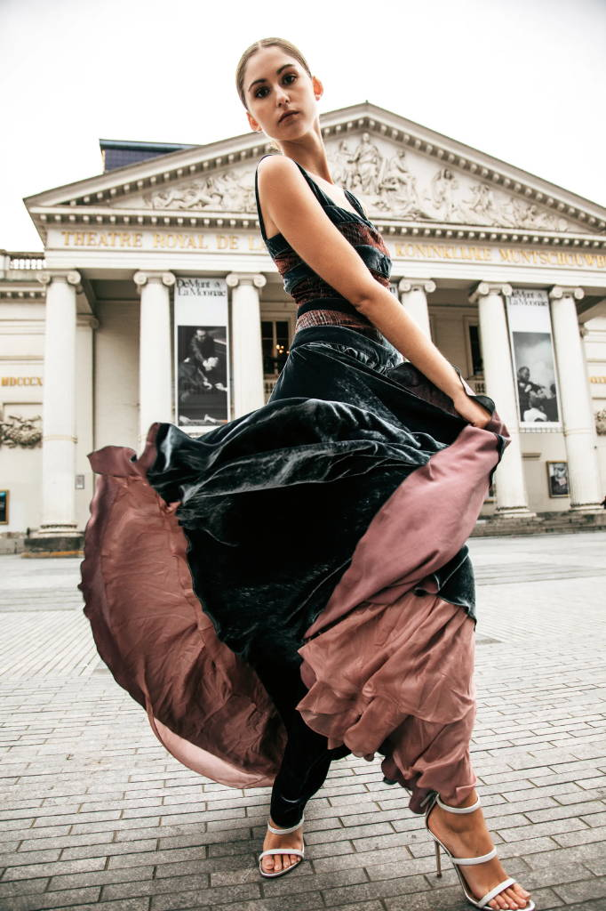 PENDA • Luxury Designer Fashion  • Frida Kahlo velvet dress • Brussels Campaign