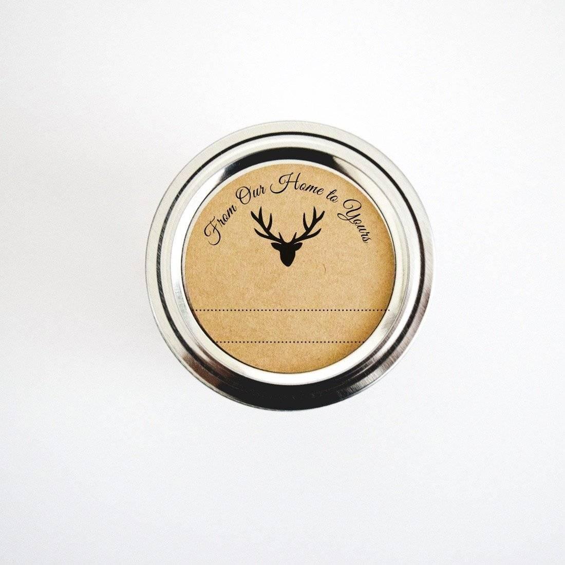 woodland deer canning labels