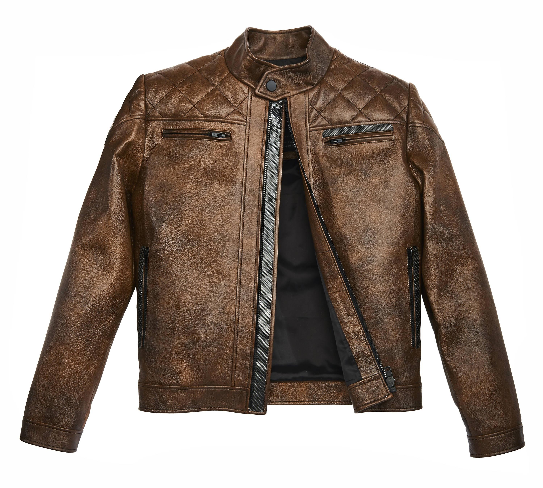 Carbonesque mens enzo cq leather jacket