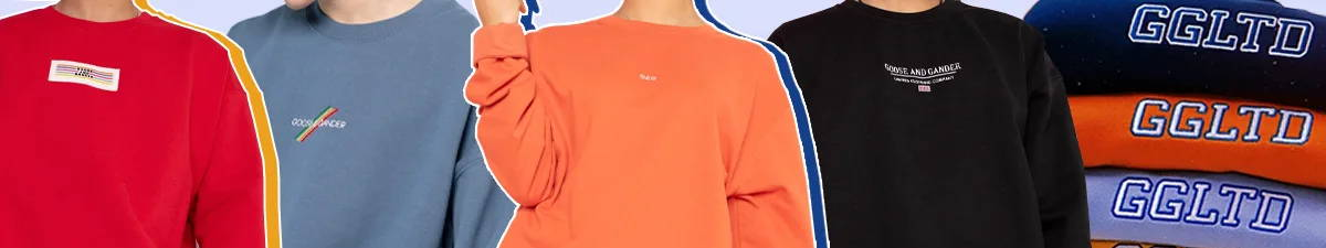 Goose & Gander logo Sweatshirts in a variety of colours