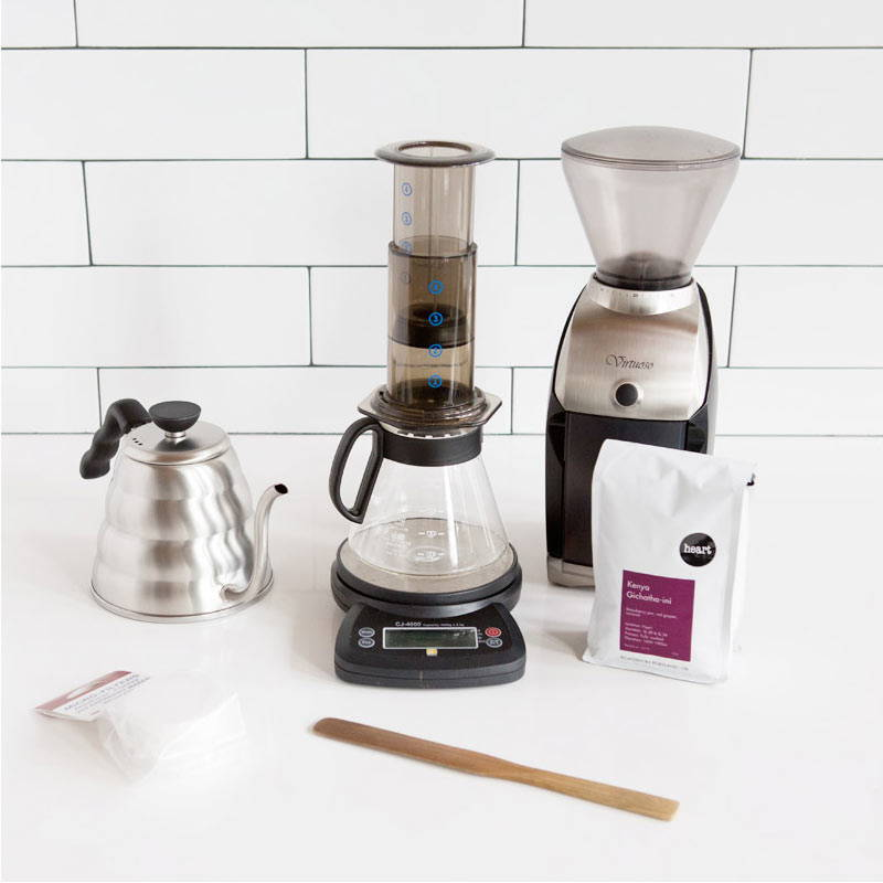AEROPRESS brew equipment items