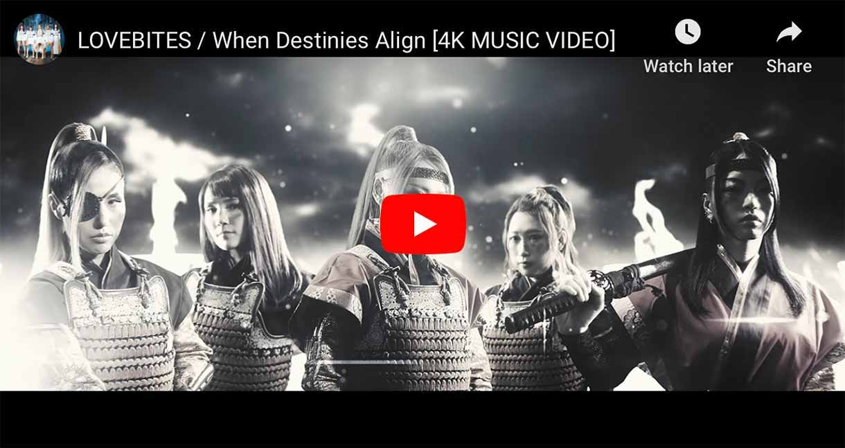 Japanese heavy metal band LOVEBITES When Destinies Align Music Video Thumbnail