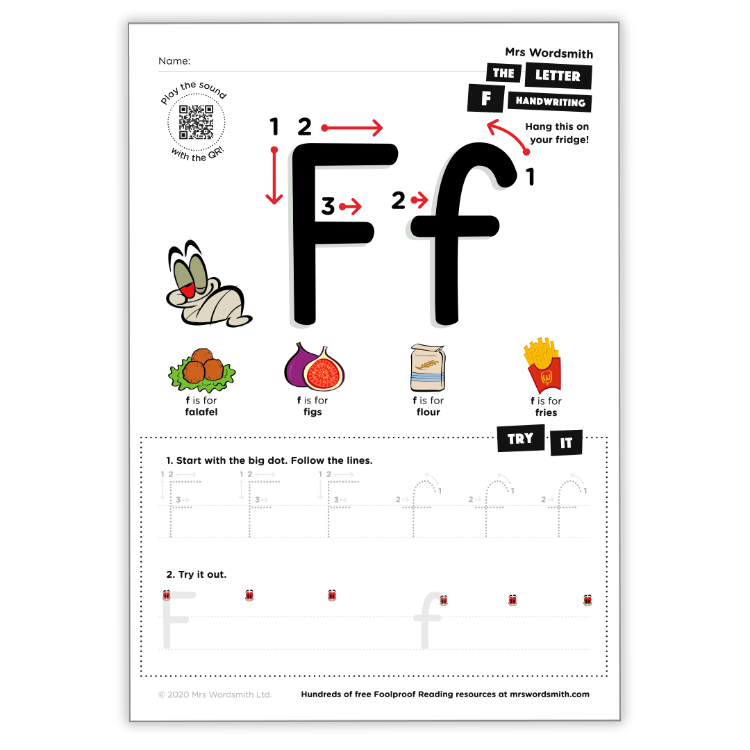 Letter f activity