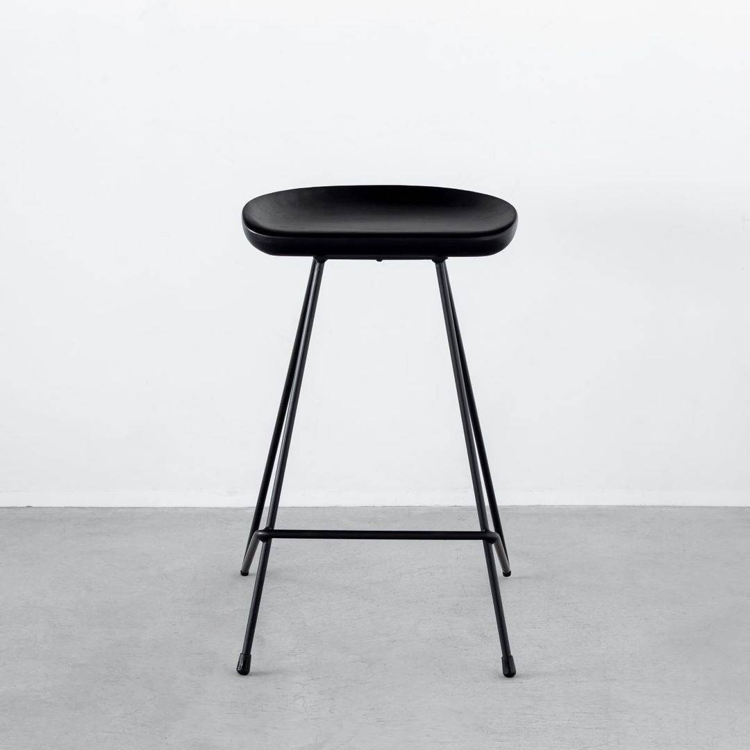 Elegant - Modern Ash High Stool  Black