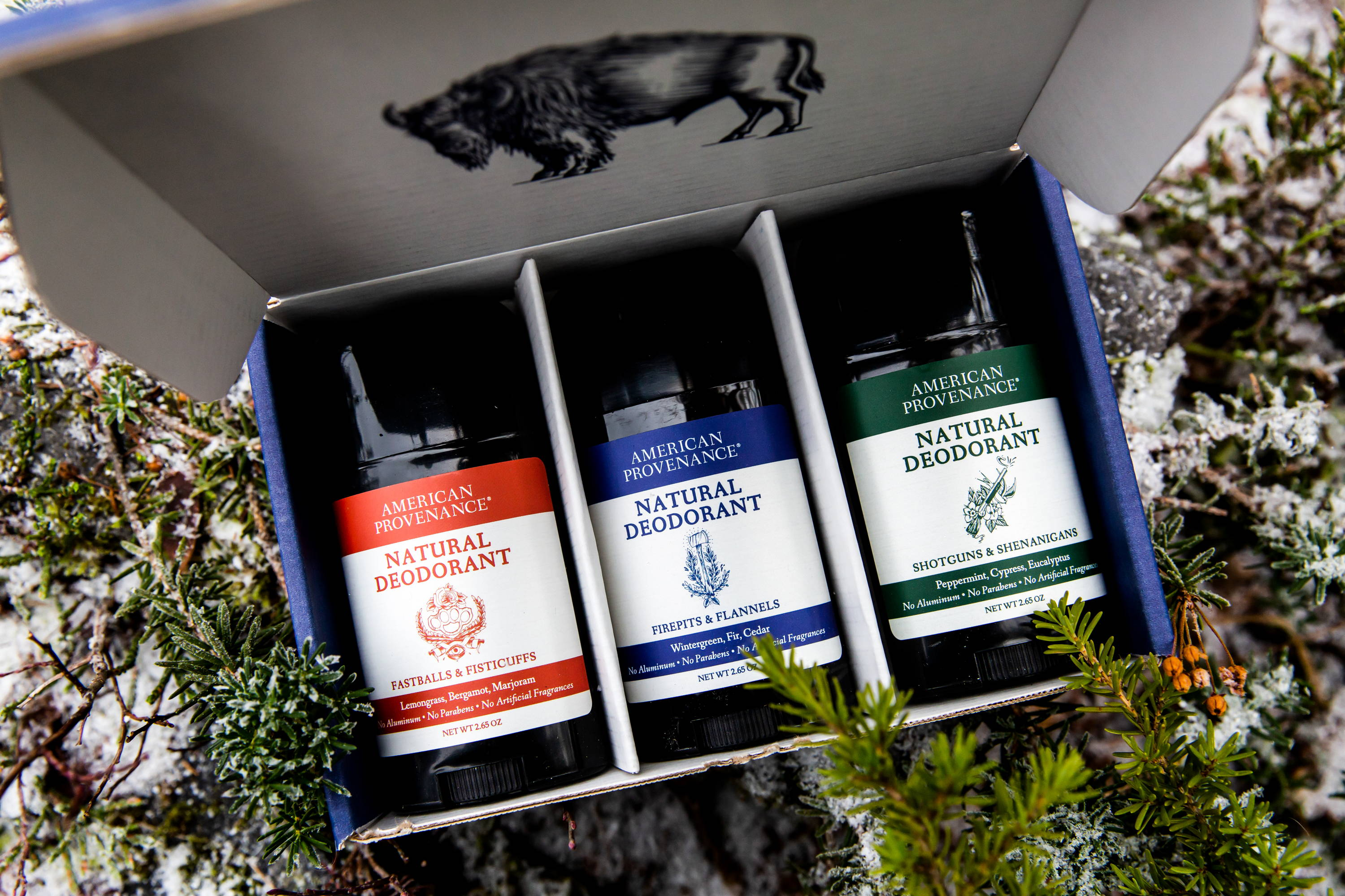 American Provenance now is offering Build Your Own 3 Packs of our Natural Deodorant. Choose from all 12 popular scents.