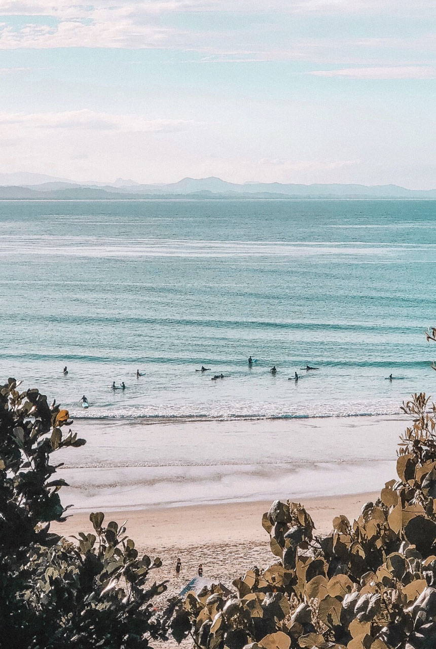 Spell People + Planet image of Byron Bay beach
