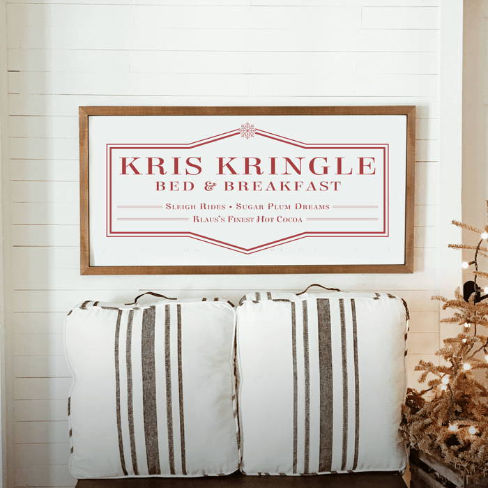 Kris Kringle XL wood framed sign