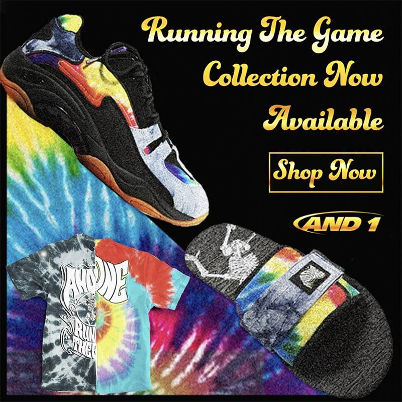 AND1 Running The Game Tie Dye Collection Now Available