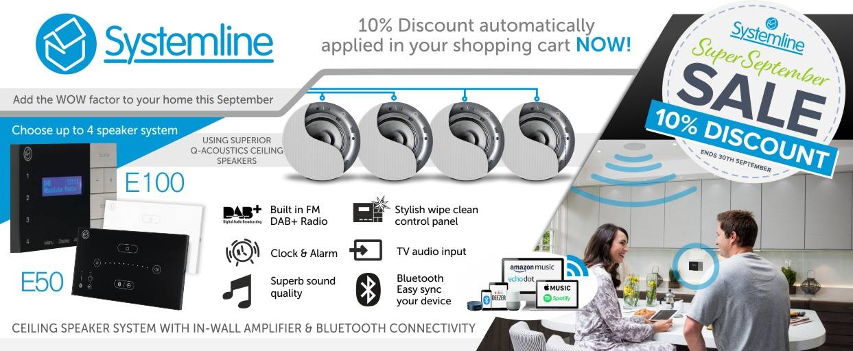 Systemline 10% Discount at Audio Volt in the month of September