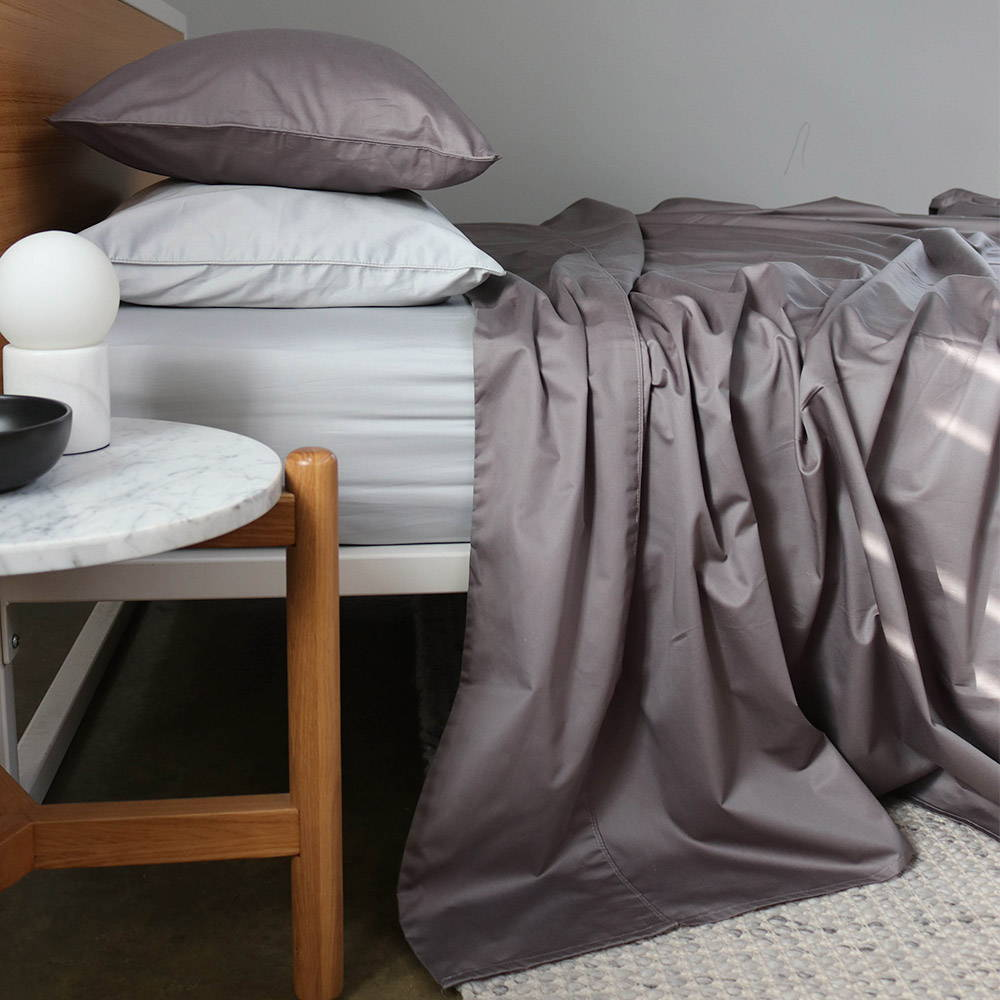 The Sheet Society Charcoal 100% Long Staple Cotton Sheets