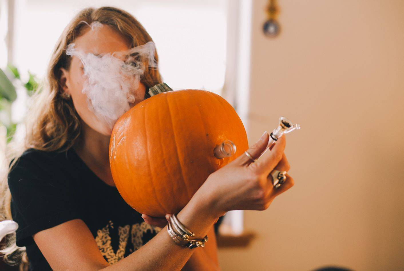 420 Fall and Halloween! Pumpkin Pipe at DopeBoo.com