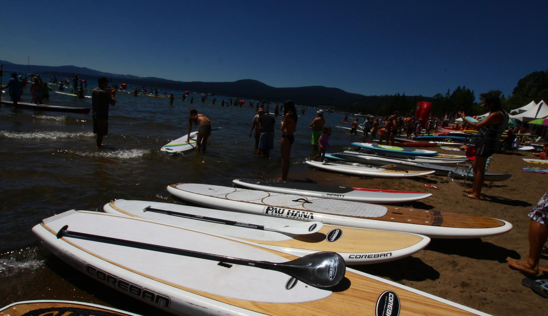 SUP lineup in tahoe