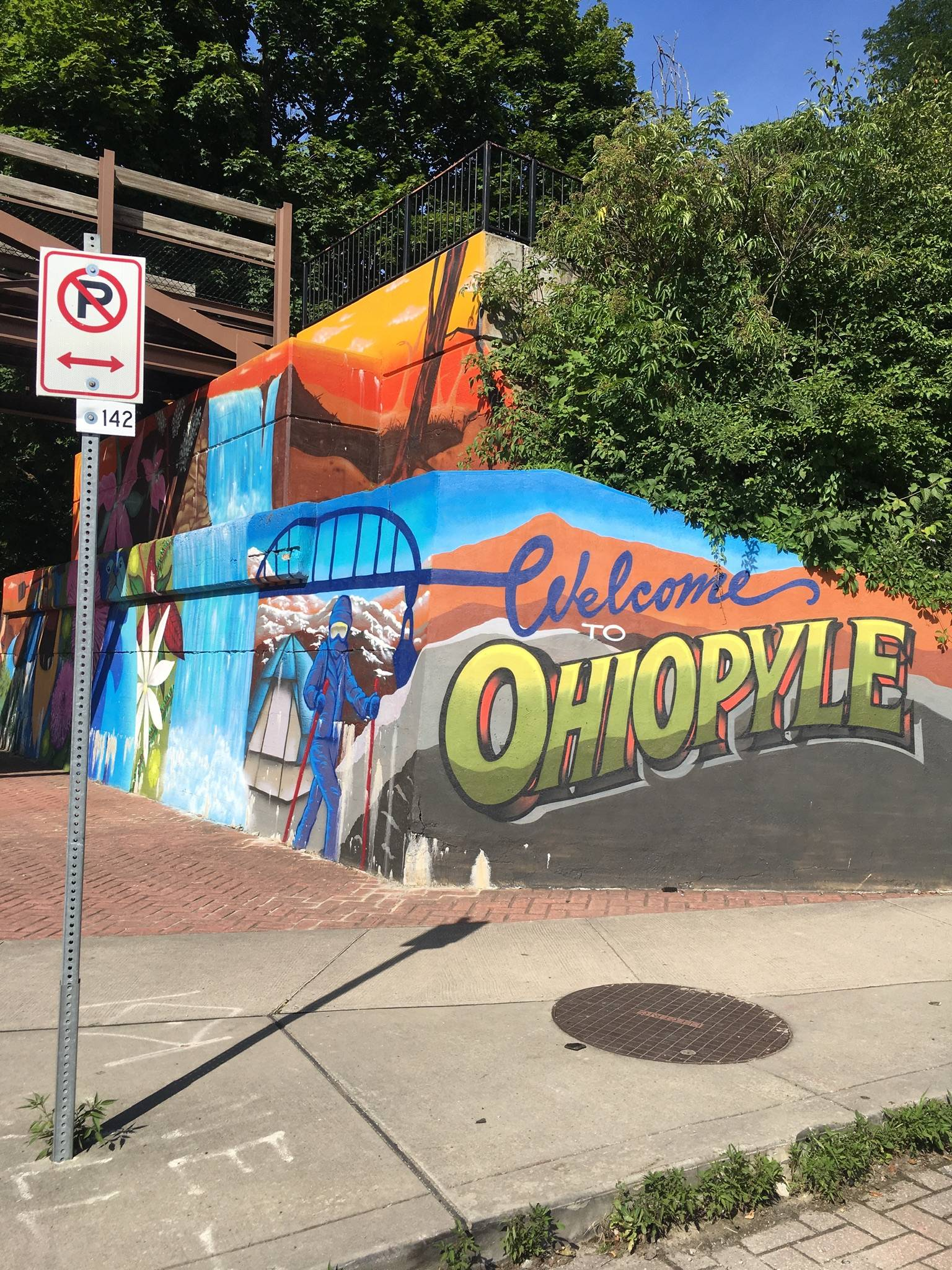 Welcome to Ohiopyle mural