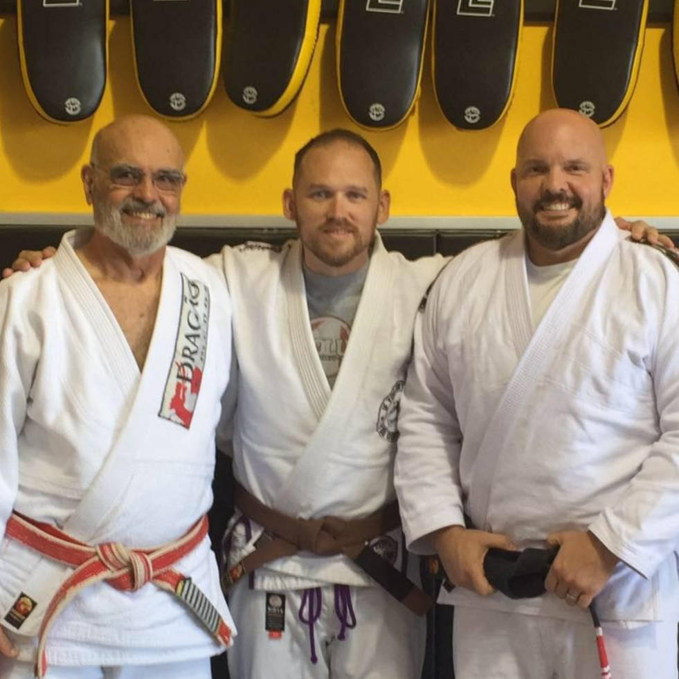 Pictured, left to right: GM Flavio Behring, Bret Gold (me), Prof. Rob Handley