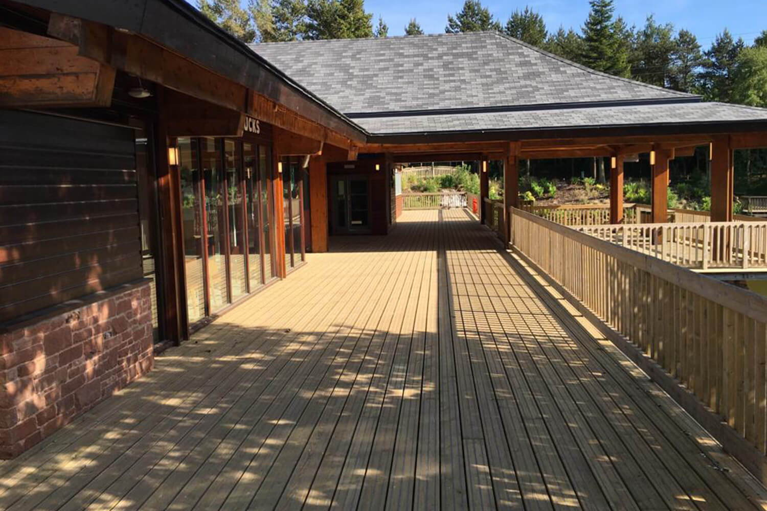 Decked Walkway At Center Parcs