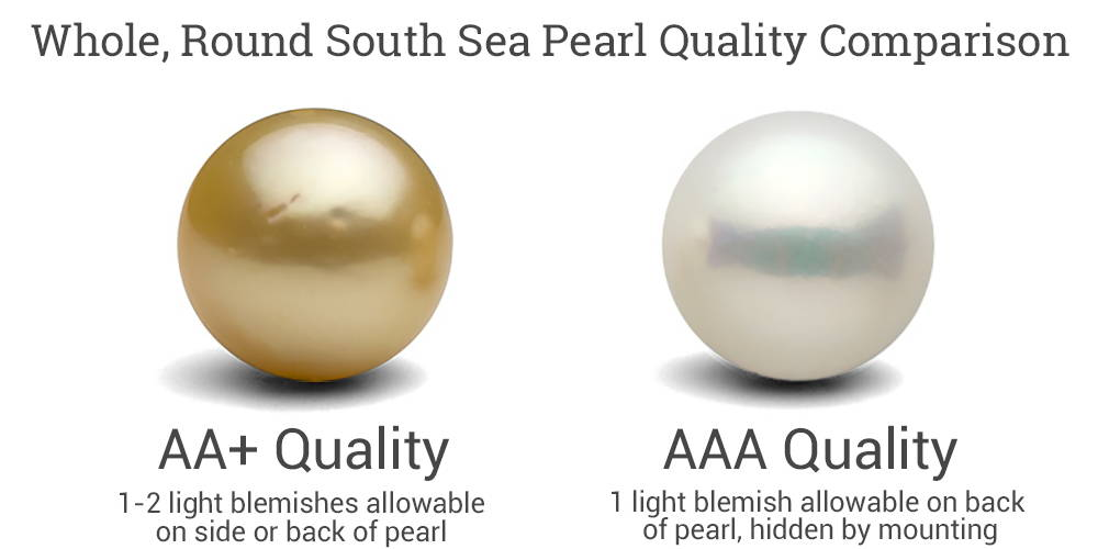 AA+ vs AAA Quality South Sea Round Pearls