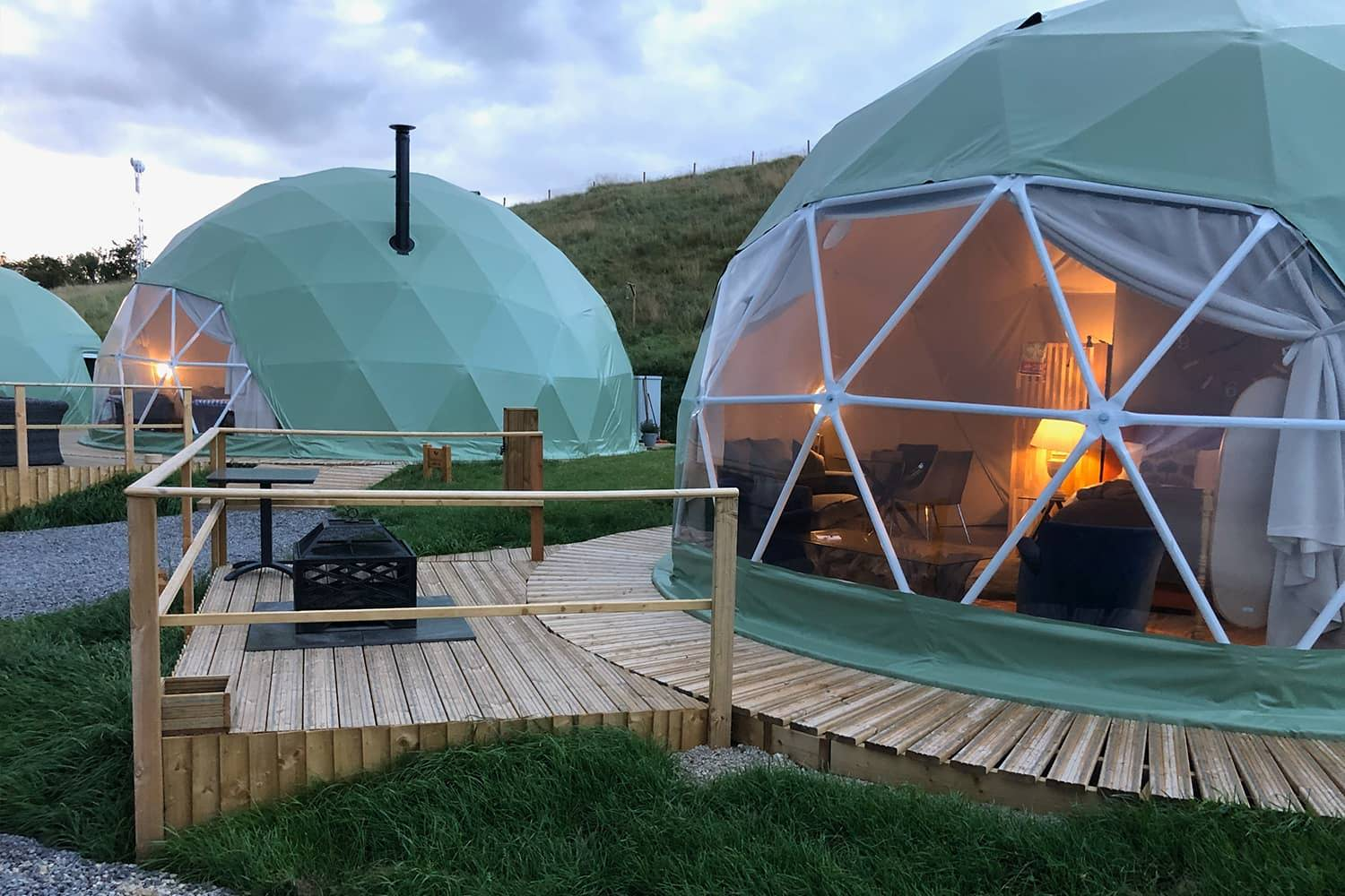 Luxury Geodesic Domes With Decking