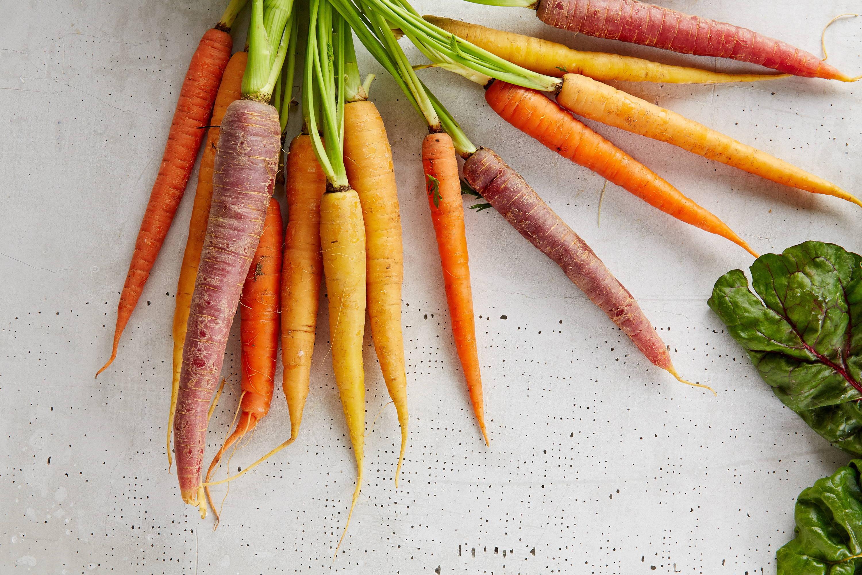 Carote colorate orto verdure invernali