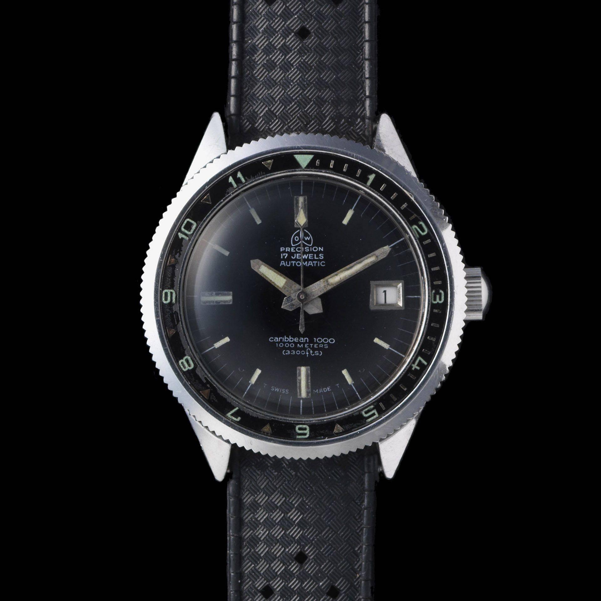 Ollech and Wajs Zurich 1956 OW vintage watch Swiss made CARIBBEAN 1000 OW702
