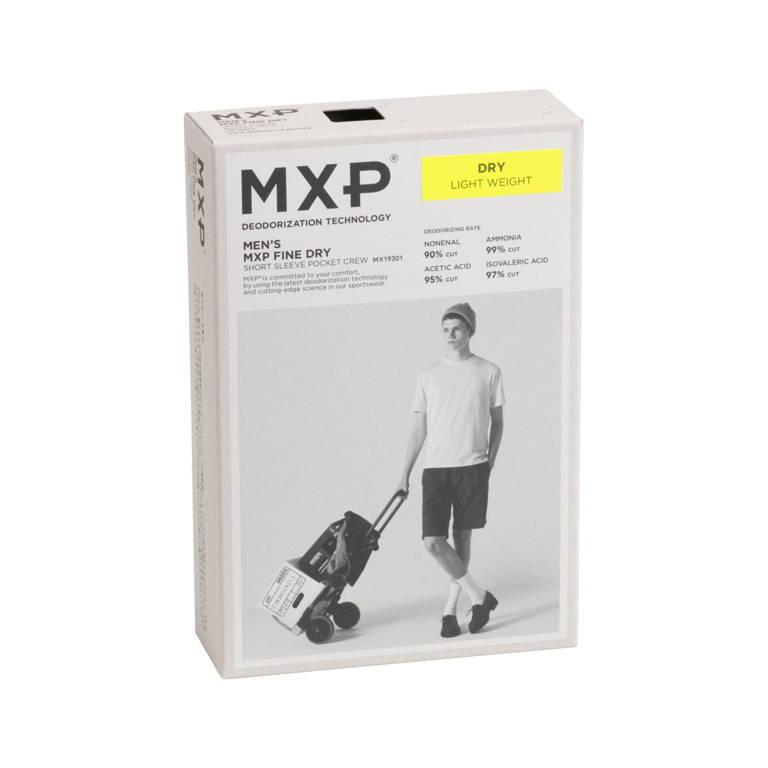 MXP(エムエックスピー)/ファインドライ ショートスリーブポケットクルー/ホワイト/MENS