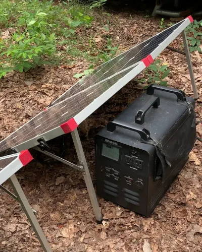 The 4Patriots Patriot Power Generator 1800 comes with a foldable solar charger panel, perfect for after the power goes out