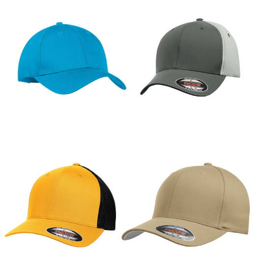 Blank, unbranded summer headwear (baseball hats and other caps)