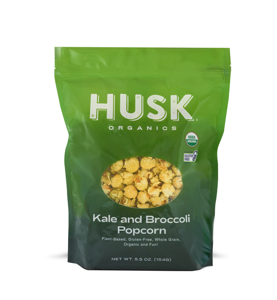 Bag of Kale and Broccoli Popcorn