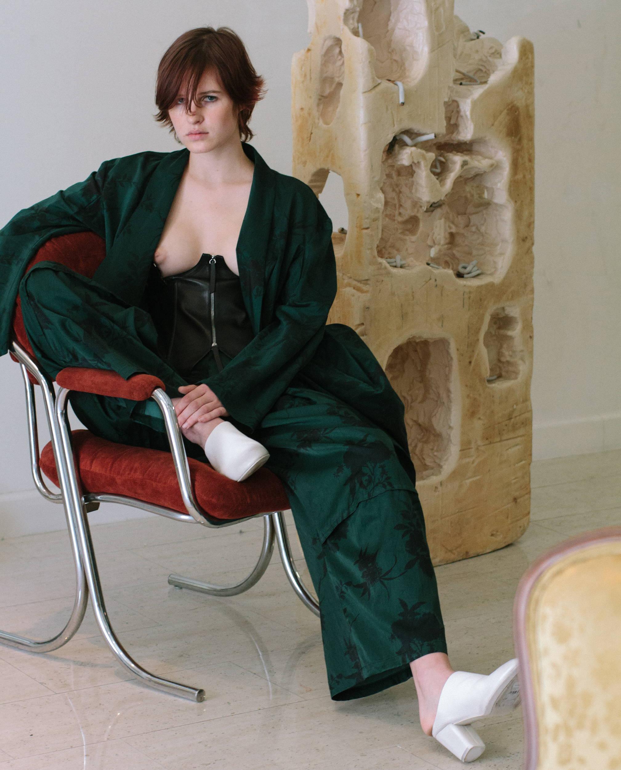 Y's Yohji Yamamoto Women Floral Suit - Hlorenzo