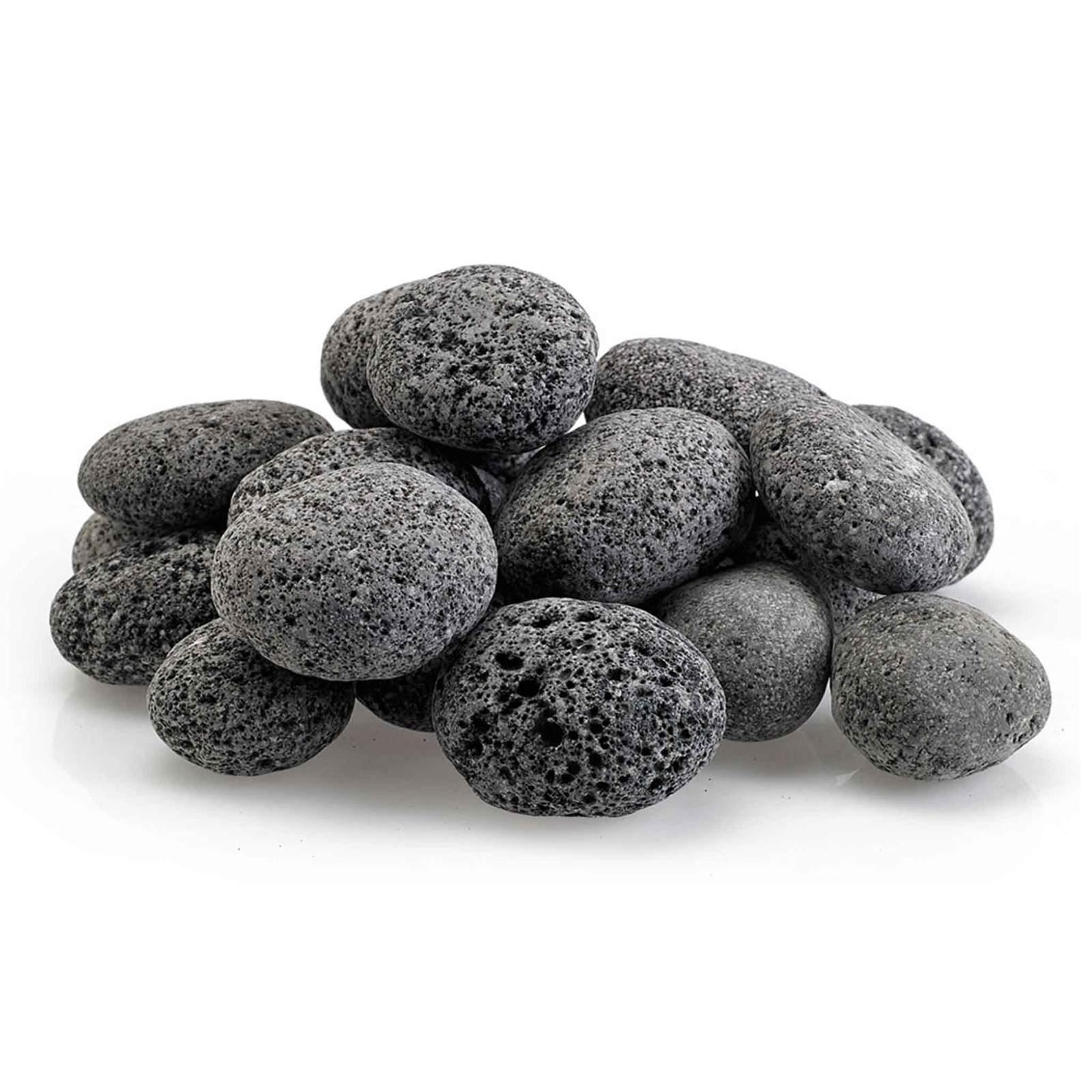 A pile of lava rocks