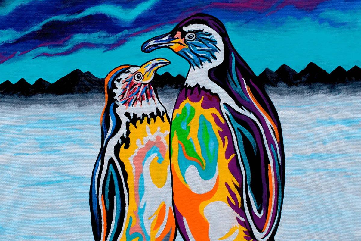 Multi-Coloured Penguin Art by Steven Brown