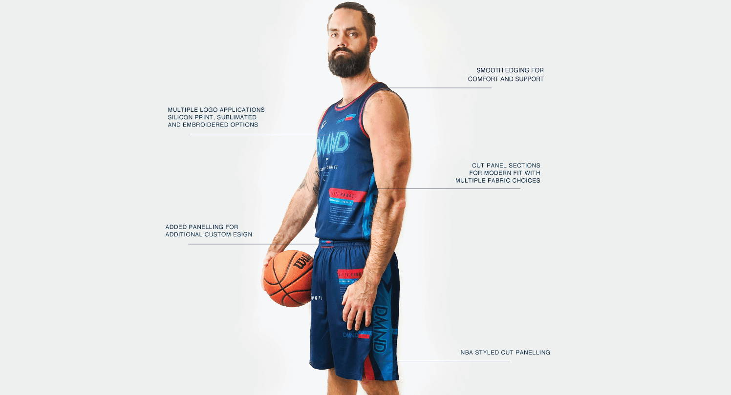 DMND uses the latest in printing techniques and an Australian design team, your clubs basketball kit will be created as you envisioned it.