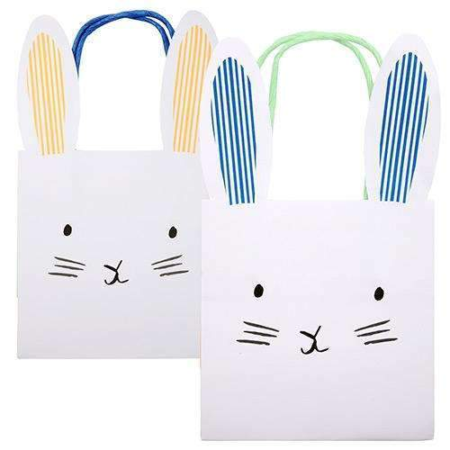 Photo of two Hip Hop Bunny Shaped Easter Party Bags from the Hip Hop Bunny Easter Decorations collection.