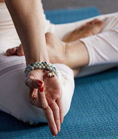 Meditating with the Silver & Sage mala