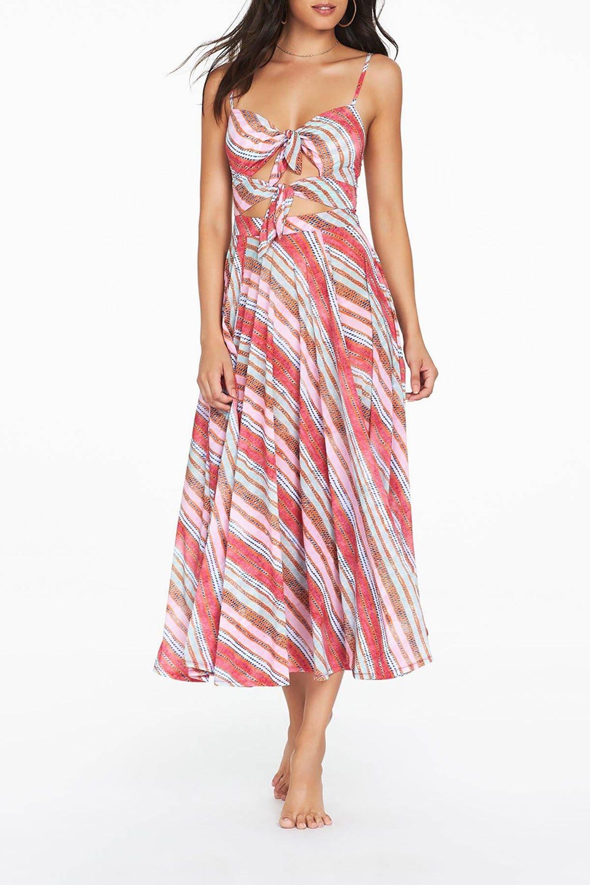Womens Antheia Midi Dress - Multi Colour by Tigerlily