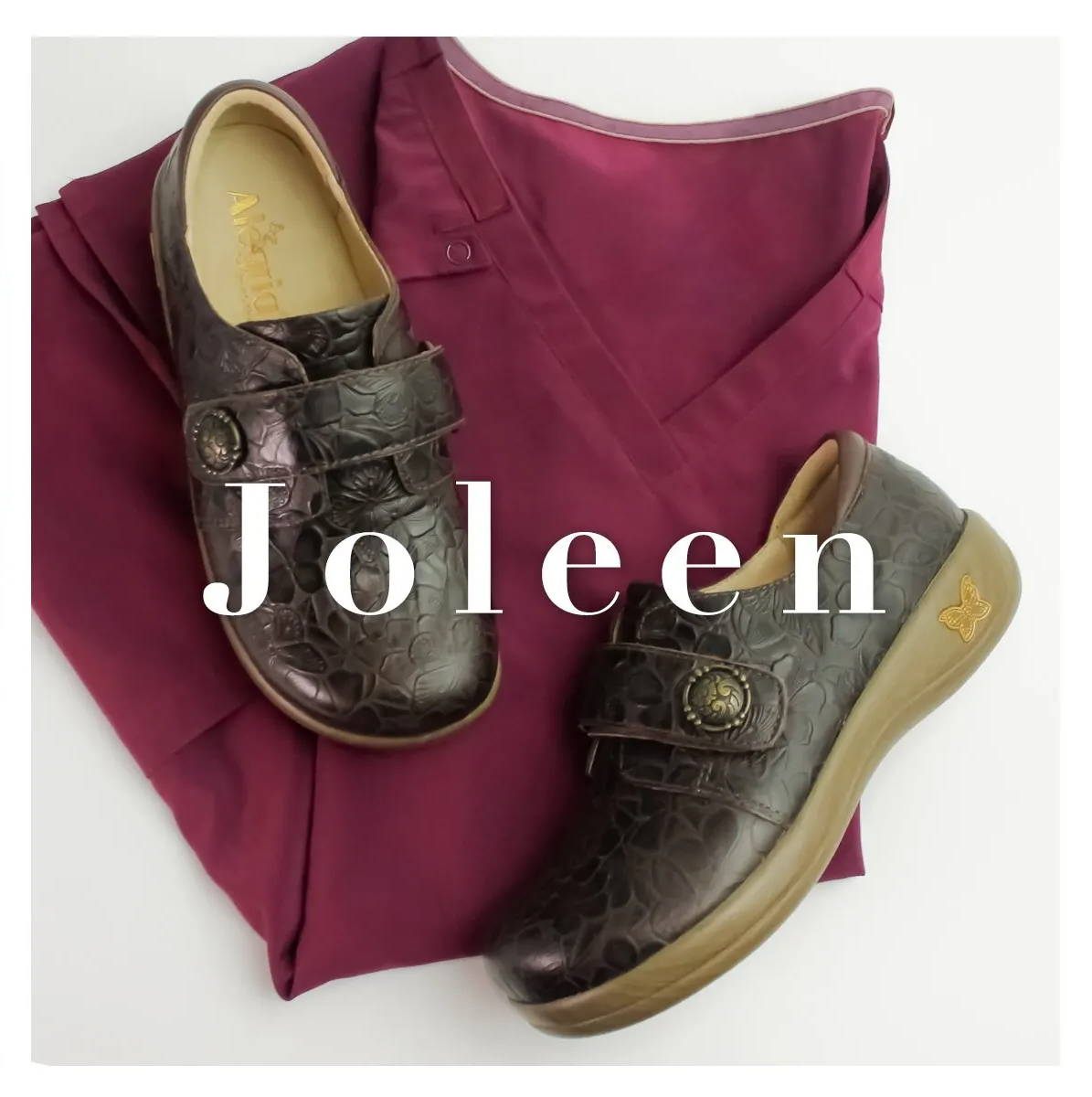 Alegria Joleen profession shoe collection - in Molasses Tooled