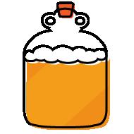 Demijohn full of craft beer