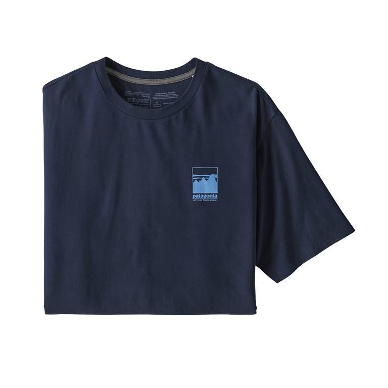 patagonia(パタゴニア)/アルパイン アイコン ROCパイロットコットンTシャツ/ネイビー/MENS