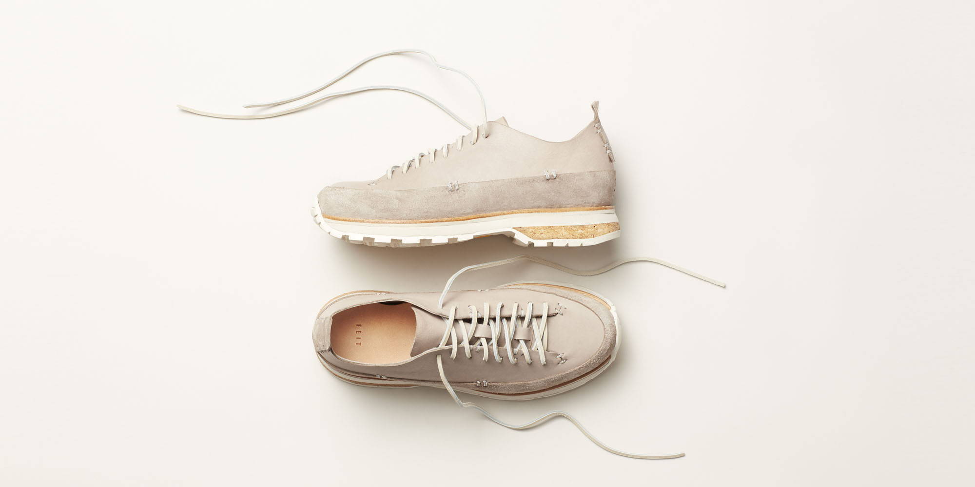FEIT Lugged Runner in Light Grey