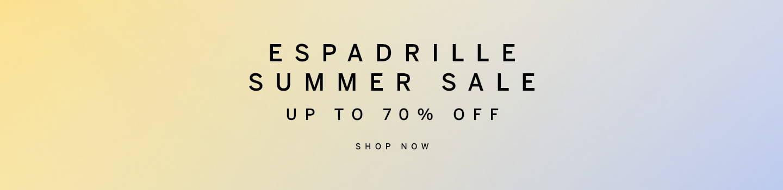 Espadrille Summer Sale