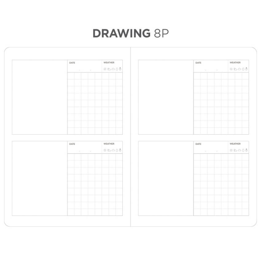 Drawing note - After The Rain 2020 Dot your day weekly dated diary planner