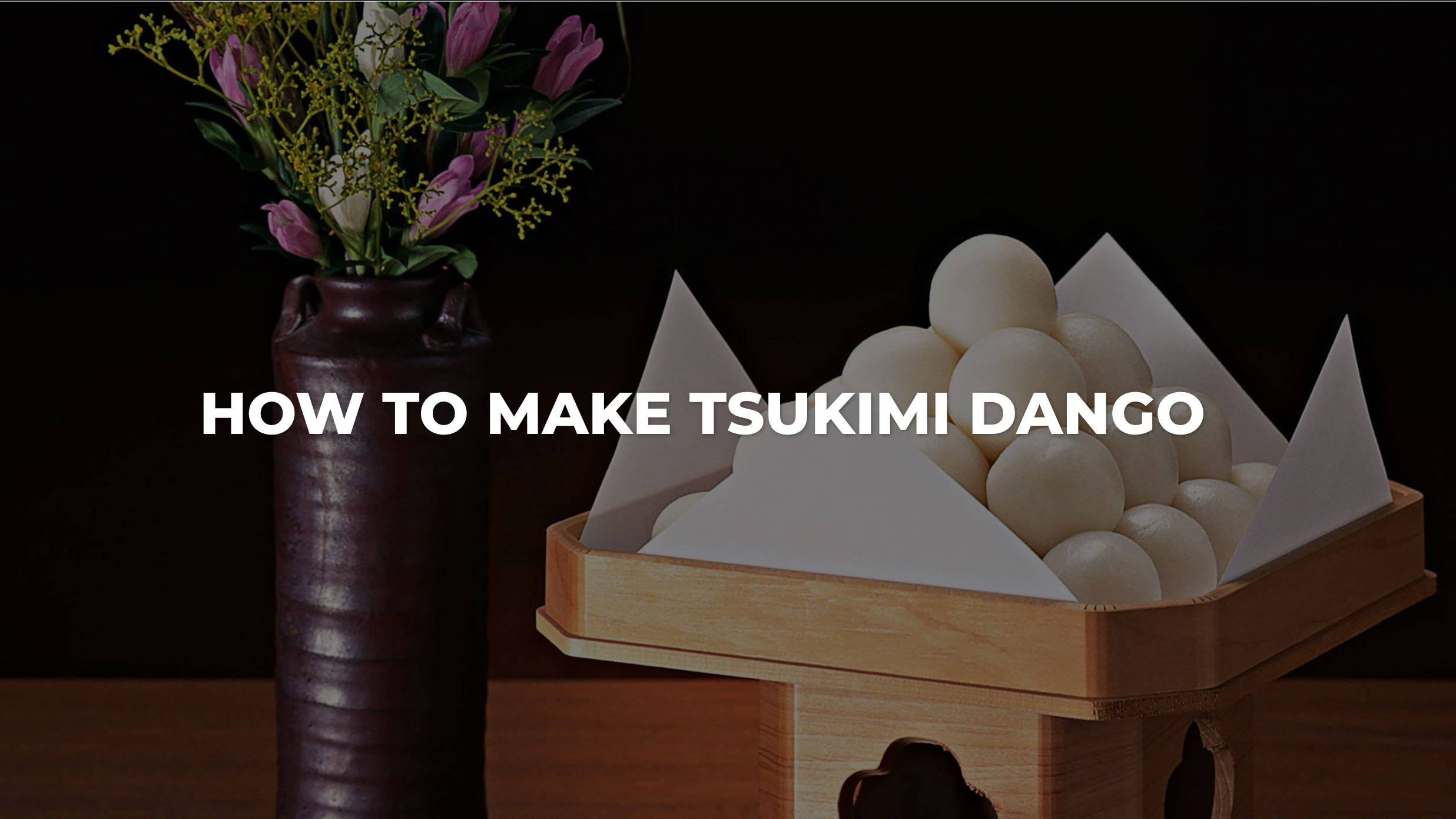 How to Make Tsukimi Dango Recipe