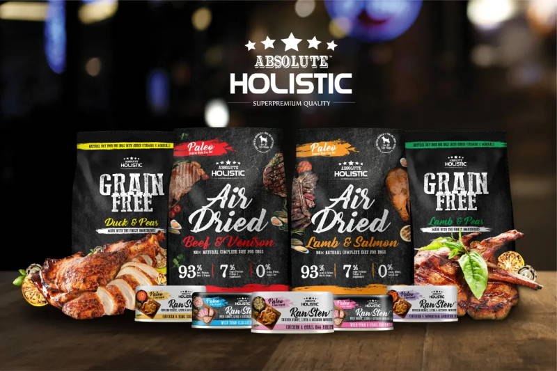 Absolute holistic air-dried dog food & treats mobile banner