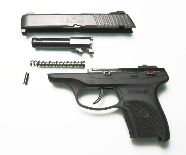 Disassembled Ruger LC9