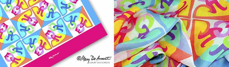 Designer custom screen printed scarves- Modal - Oblong