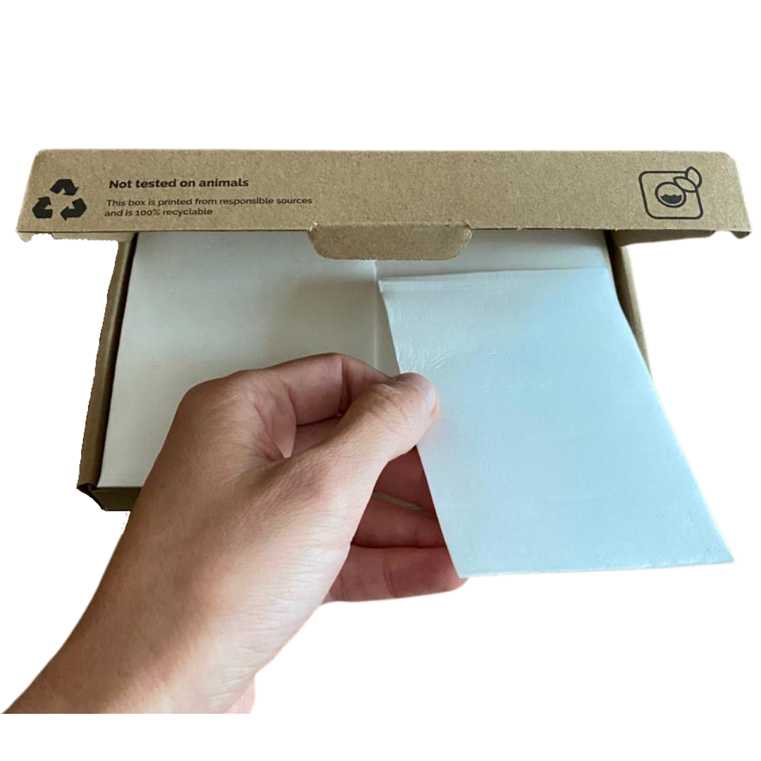 Box of 40 eco friendly laundry detergent sheets
