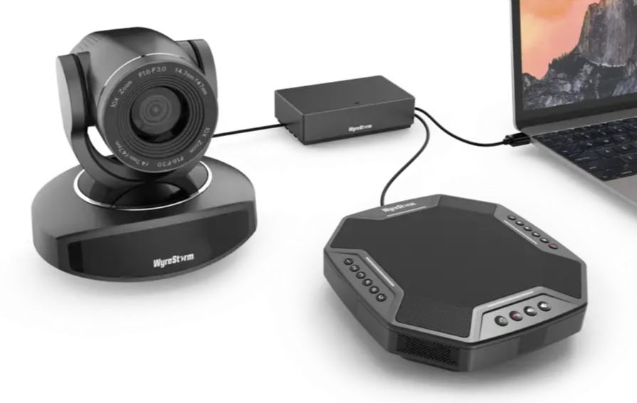 WyreStorm Essentials™ 1080p Plug-and-Play Video Conference Kit with PTZ Camera, Speaker and Microphone EMI AUDIO