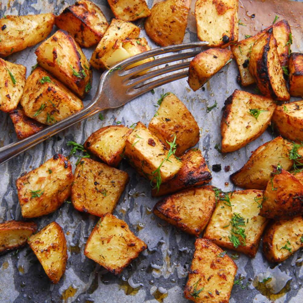 dill with roasted potatoes