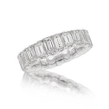 Baguette diamond Xpandable ring