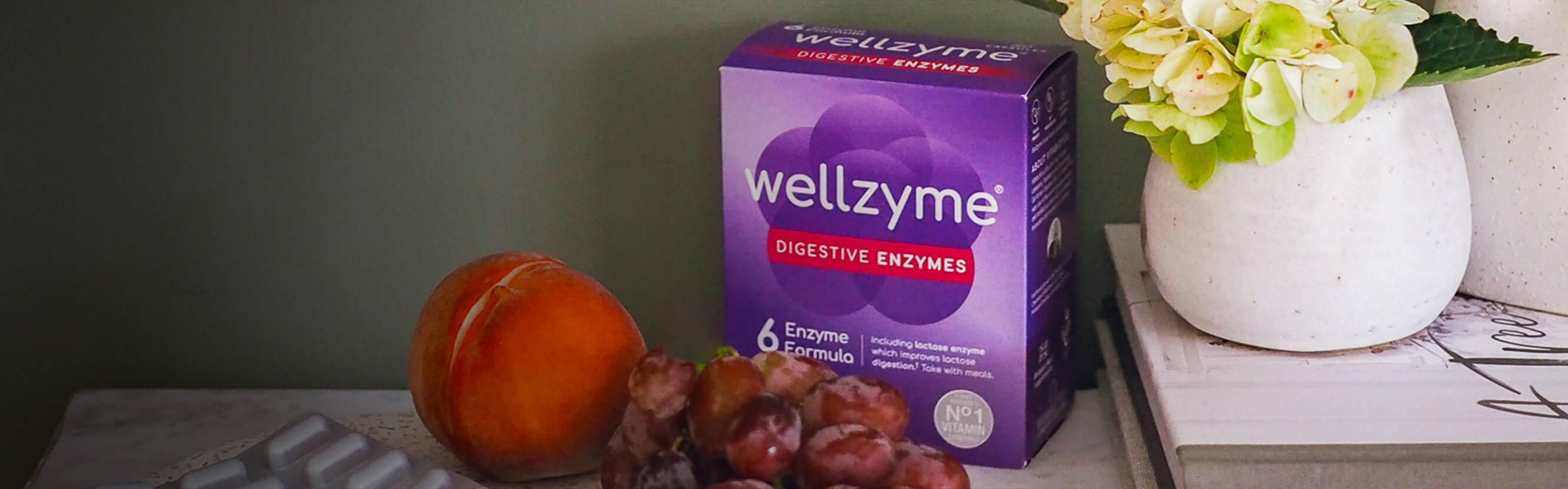 Good digestion is all about balance – and, with Wellzyme, we've taken a balanced approach to formulation. Every enzyme has been chosen for a specific purpose, including lactase enzyme which improves lactose digestion.